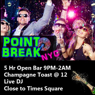 Point Break NYC New Years 2020 Open Bar Party