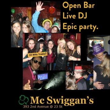 9th Annual TOP SHELF Open Bar NYE Party at Mcswiggans